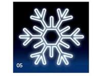 Vločka 120x120 cm - studená bílá